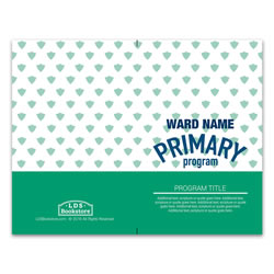 Teal Primary Program Cover - Printable lds program cover, lds printable program cover, primary program cover