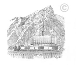 Provo Utah Temple - Sketch