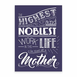 Mother's Day Card - Purple - Printable
