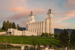 Manti Temple - Summer Evening