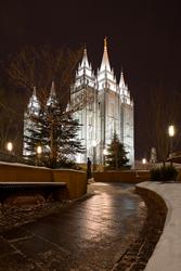 Salt Lake Temple - Snowpath