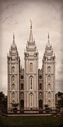 Salt Lake Temple Towers - Panoramic