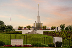 Atlanta Temple - Summer Morning