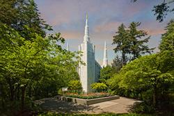 Portland Temple - Springtime