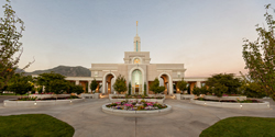 Mt. Timpanogos Temple Sunset - Panoramic