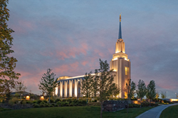 Twin Falls Temple - At Dusk