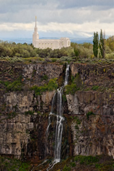 Twin Falls Idaho Temple - Waterfall