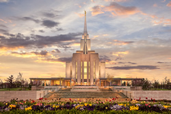 Oquirrh Mountain Temple - Golden Springtime