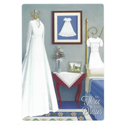 Three White Dresses Baptism Greeting Card