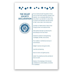 Relief Society Declaration Poster - Modern - Printable
