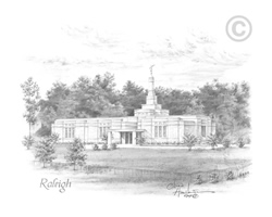 Raleigh North Carolina Temple - Sketch