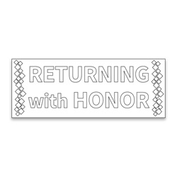 Coloring Missionary Banner - Honor lds missionary banner, missionary poster, homecoming poster, welcome home poster for missionaries, lds welcome home banner, welcome home banner