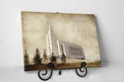 Rexburg Temple - Vintage Tabletop