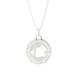 Romania/Moldova Mission Necklace - Silver/Gold