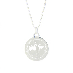 Russia Mission Necklace - Silver/Gold lds russia mission jewelry