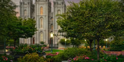 Salt Lake Temple - In the Garden