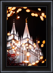 Salt Lake Temple Christmas Lights - Framed - D-LWA-SJ-SLTCL-7369265