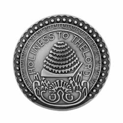 Salt Lake Temple Doorknob Pin - Silver doorknob pin, silver doorknob pin, slc temple doorknob, salt lake temple doorknob