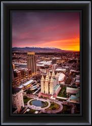Salt Lake Temple Downtown - Framed