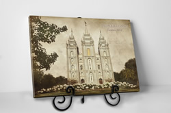 Salt Lake City Temple - Vintage Tabletop - D-LWA-TCW-SLC