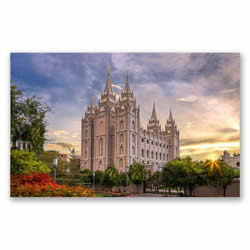 Salt Lake Temple Recommend Holder - Spanish