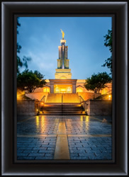San Antonio Temple After Rain - Framed - D-LWA-SJ-STR-8D16044