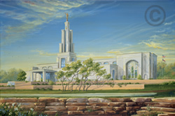 San Antonio Texas Temple - Sketch