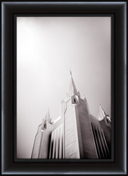 San Diego Temple Black & White - Framed