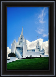 San Diego Temple Blue Skies - Framed