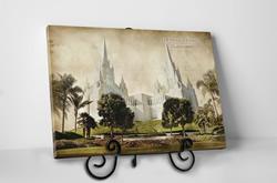 San Diego Temple - Vintage Tabletop