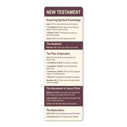 New Testament Scriptures Bookmark new testament scriptures, lds bookmark, new testament verses, scripture verse bookmark, new testament bookmark