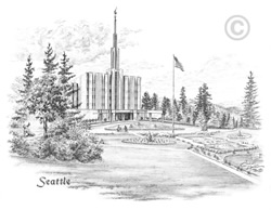 Seattle Washington Temple - Sketch
