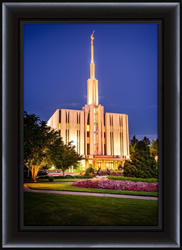 Seattle Temple Sunset - Framed