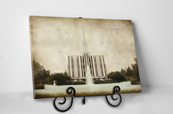 Seattle Temple - Vintage Tabletop