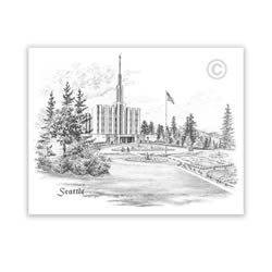 Seattle Washington Temple Recommend Holder