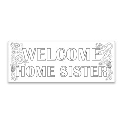 Coloring Missionary Banner - Flowers lds missionary banner, missionary poster, homecoming poster, welcome home poster for missionaries, lds welcome home banner