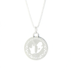 South Africa Mission Necklace - Silver/Gold lds south africa mission jewelry