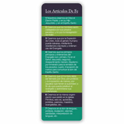 Articles of Faith Bookmark - Spanish