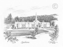 Spokane Washington Temple - Sketch