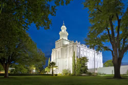 St. George Temple - Summer Evening