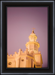St. George Temple Twilight Spire - Framed