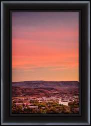 St. George Temple Overlook - Framed