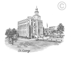 St. George Utah Temple - Sketch
