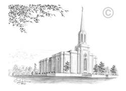 St. Louis Missouri Temple - Sketch