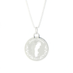 Sweden Mission Necklace - Silver/Gold lds sweden mission jewelry