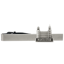 Manti Utah Temple Tie Bar - Silver
