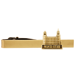 Manti Utah Temple Tie Bar - Gold