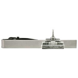 Mount Timpanogos Utah Temple Tie Bar - Silver