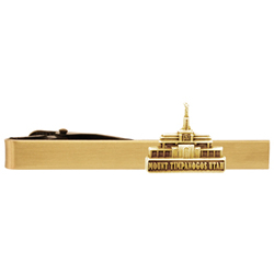 Mount Timpanogos Utah Temple Tie Bar - Gold