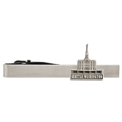 Seattle Washington Temple Tie Bar  - Silver